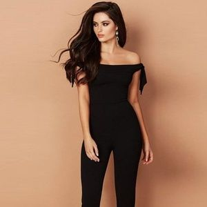 Off The Shoulder Long Sleeveless Causal Jumpsuit